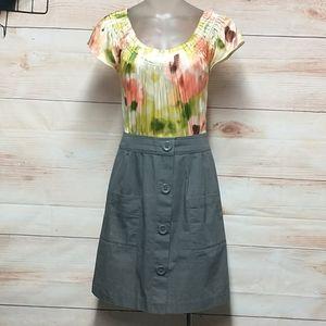 Anthropologie Tabitha Watercolor top Mini-Dress
